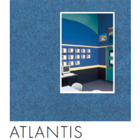 25 of  Composition Acoustic Wall Fabric and Screen Covering ATLANTIS  122x100cm BLU08