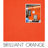 25 of  Composition Acoustic Wall Fabric and Screen Covering BRILLIANT ORANGE  122x100cm ORA02