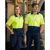 5 of  AIW SW01TD; High Visibility Safety Polo Shirt 60% cotton 40% Polyester