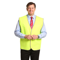 AIW SW02A; High Visibility Safety Vest 100% Polyester