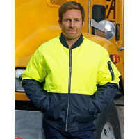 AIW SW06A; High Visibility Flying Jacket; 100% Polyester PU Coated