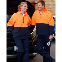 AIW SW07; High Visibility Polar Fleece Pullover 100% Polyester