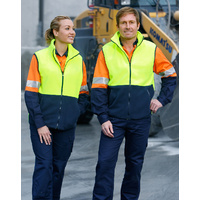 5 of  AIW SW08; High Visibility Polar Fleece Vest 100% Polyester