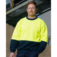 AIW SW09; High Visibility Polar Fleece Windcheater 20% Cotton 80% Polyester