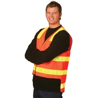 AIW SW10A; High Visibility VIC ROAD Safety Vest 100% Polyester w 3M Tape