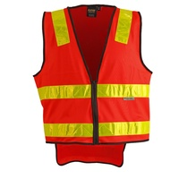 >> Sale << SW10A Sz 3XL; High Visibility VIC ROAD Safety Vest 100% Polyester w 3M Tape; Fluoro Red