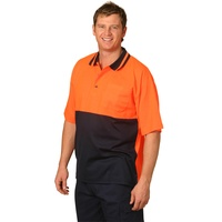 5 of  AIW SW12; High Visibility Safety Polo Shirt 57% Cotton 43% Polyester
