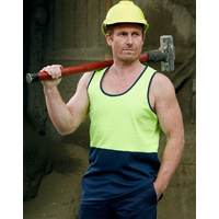 AIW SW15; High Visibility Safety Singlet 60% Cotton 40% Polyester