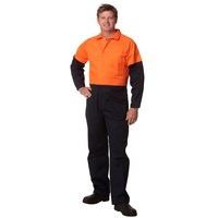 AIW SW204; REGULAR High Visibility Coverall; 100% Cotton Drill