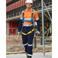 AIW SW207; REGULAR High Visibility Coverall; 100% Cotton Drill w 3M Tape
