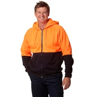 AIW SW24; High Visibility Fleece Hoodie 20% Cotton 80% Polyester
