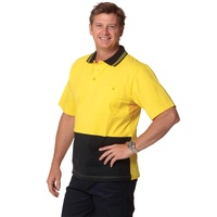 AIW SW35; Fluoro High Visibility Safety Polo Shirt 100% Cotton