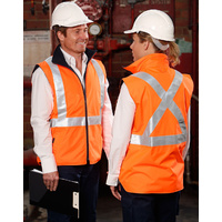 AIW SW37; High Visibility Reversible Safety Vest; 100% Polyester w Fleece w 3M Tape