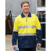 AIW SW46; High Visibility Cotton Jacket; 100% Cotton Drill w 3M Tapes