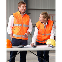 5 of  AIW SW49; High Visibility Reversible Safety Vest; 100% Polyester w Fleece w 3M Tape