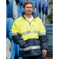 AIW SW50; High Visibility Safety Jacket 100% Polyester w Fleece w 3M Tape