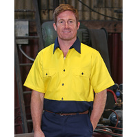 AIW SW53; Safety Work Shirt 100% Cotton Drill