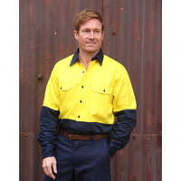 AIW SW54; Safety Work Shirt 100% Cotton DrilL