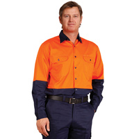 5 of  AIW SW58; Safety Work Shirt 100% Cotton Twill