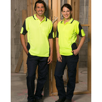 5 of  AIW SW71; Fluoro Safety Polo Shirt 100% Polyester