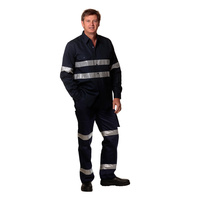 AIW WP07HV; REGULAR Drill Pants 100% Cotton Drill w 3M Tapes