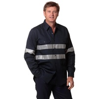 AIW WT04HV; Work Shirt 100% Cotton Drill w 3M Tapes