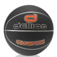 PD023 ; Dellios CHAMPION Mens Basketball Size 7; Black/Silver