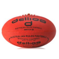 PD007 ; Dellios Australian Rules Football, Full size, Red