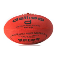 PD011 ; Dellios Australian Rules (AUS Kick Midi) Football, Size 2, Red, U12yrs