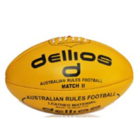 PD012 ; Dellios Leather Australian Rules Football, Full size, Yellow
