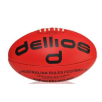 PD013 ; Dellios Leather Australian Rules Football, Full size, Red