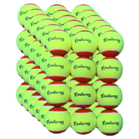 72 x Meister S3 (Stage 3) Red Spot Tennis Balls - 75% slower bounce suits 5 to 8 yr olds  PD040 (6 packs)