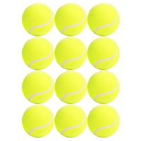 PD044 12 x Super Cheap All-purpose Tennis Balls for yard or dog/pet games