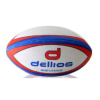PD017 ; Dellios Rugby Mod League Ball; Red/Blue