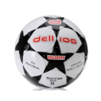 PD001 ; Dellios VELOCITY Soccer Ball, Size 5, 32 hexagonal panels; Black/Silver