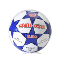 PD002 ; Dellios EURO Soccer Ball, Size 5, 32 hexagonal panels; Blue/Black