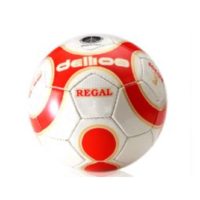 PD004 ; Dellios REGAL Soccer Ball, Size 3, 32 hexagonal panels, U8yrs; Red/Gold/White