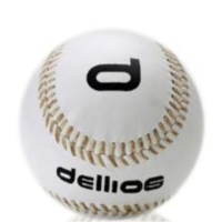 "PD030 ; Dellios Synthetic Leather covered Softball, 12"" size; White"