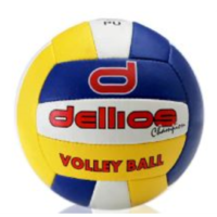 PD021 ; Dellios CHAMPION Volleyball, Size 4, 18 panel; Blue/Red/Yellow