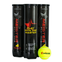 PD036; 12 x ITF Approved Meister Platinum Pressurised Tennis Balls; Yellow