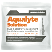 PH010 ; 5x Aqualyte hydration 80g sachets ORANGE flavour