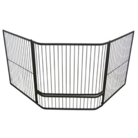 FPA015  175x75cm Corner; Child Guard w Rods; Black