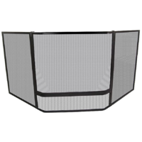 FPA019  175x75cm Corner; Child Guard w Mesh; Black