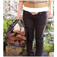 WC15; 78cm L 38 W; Black Carry Sling for wood, kindling, garden clippings, flowers