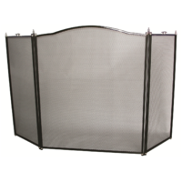 FS31-3 Steel 3 panel Firescreen; Nickel plated 66cm W 77cm H