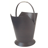 WC11-G; 49cm H; Tapered Round Steel Wood Bucket Carrier; Grey