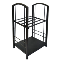 WC015 Black Heavy Duty Large Steel Fire Wood Log Rack