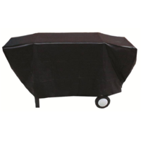 BQC033 65x205cm; Economy Flat topped 4-6 burner BBQ Cover; Black