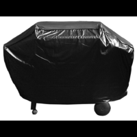 BQC013 65x162cm Economy Hooded 3-4 burner BBQ Cover; Black