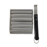 Stainless steel BBQ 5 Sausage Roller; Also suits hotdogs; Easy to turn